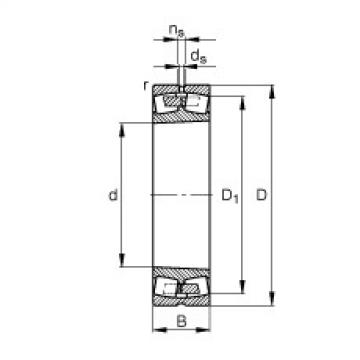 Spherical roller bearings - 23936-S-K-MB