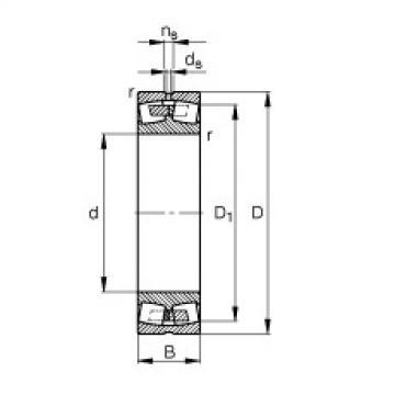 Spherical roller bearings - 248/1250-B-MB