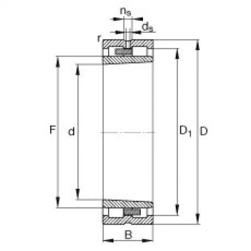 Cylindrical roller bearings - NNU4968-S-K-M-SP