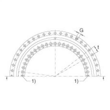 Axial angular contact ball bearings - ZKLDF395
