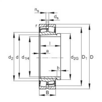Spherical roller bearings - 23156-BE-XL-K + AH3156G