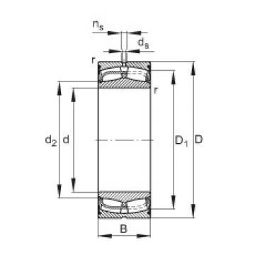 Sealed spherical roller bearings - 24134-BE-XL-2VSR