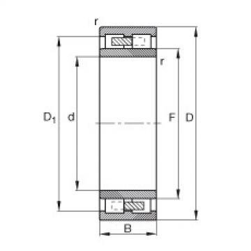 Cylindrical roller bearings - NNU4168-M