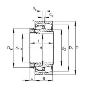 Spherical roller bearings - 22238-BE-XL-K + H3138