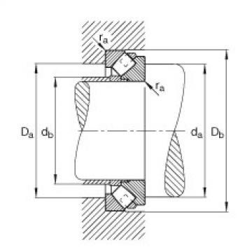 Axial spherical roller bearings - 292/670-E1-MB