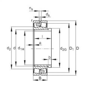 Spherical roller bearings - 24080-BEA-XL-K30-MB1 + AH24080-H