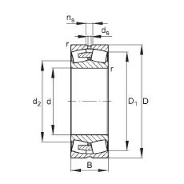 Spherical roller bearings - 23096-BEA-XL-MB1