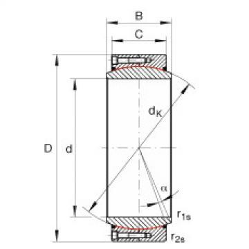 Large radial spherical plain bearings - GE670-DW-2RS2