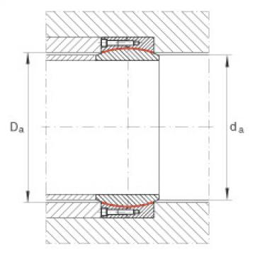 Large radial spherical plain bearings - GE400-DW-2RS2