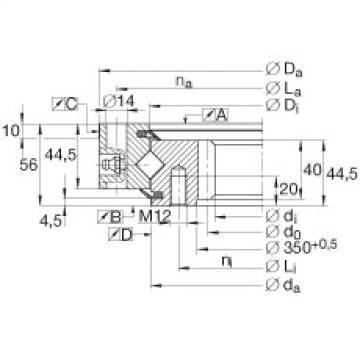 Crossed roller bearings - XSI140414-N
