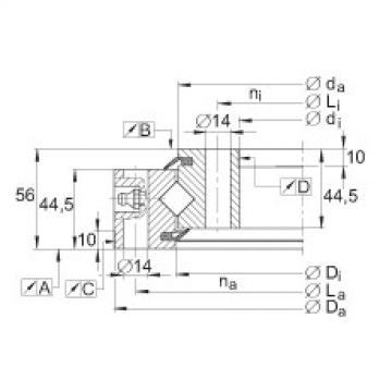 Crossed roller bearings - XSU141094