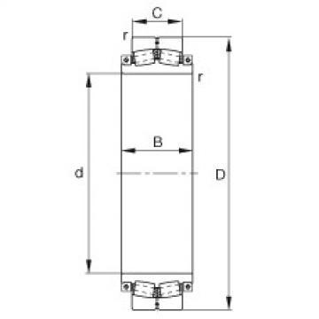 Spherical roller bearings - 240SM400-MA