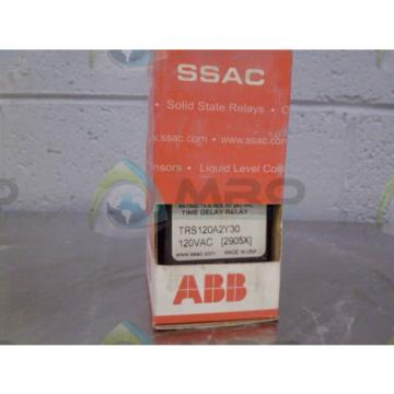 ABB TRS120A2Y30 TIME DELAY RELAY *NEW IN BOX*