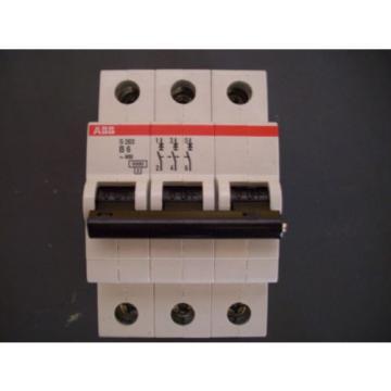 ABB S203 C16 Circuit Breaker 3 Pole 16 AMP 400 Volt