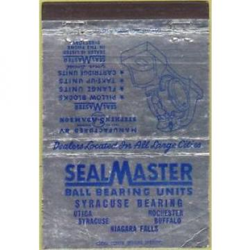 Matchbook Cover - Seal Master Ball Bearing Units Utica NY 40 Strike