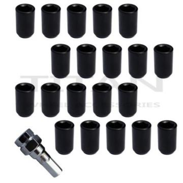"""20 Piece BLACK Tuner Lugs Nuts 