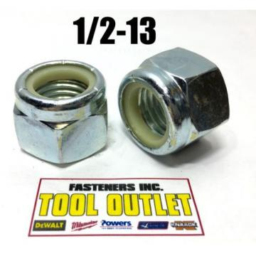 (Qty 250) 1/2-13 Nylon Insert Lock Nuts Nylock Zinc Plated (250 Pieces Total)