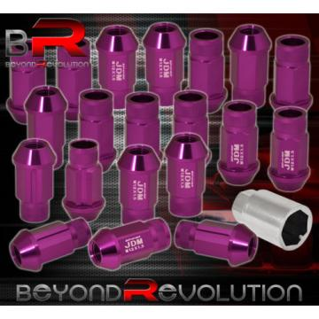 For Saturn M12X1.5Mm Locking Lug Nuts Wheels Extended Aluminum 20Piece Purple