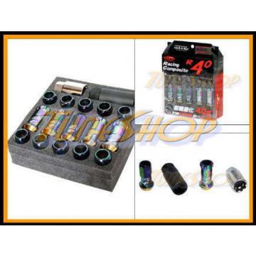 KICS R40 NEO-CHR LOCK LUG NUTS 12x1.5 1.5 FLOATING SEAT ACORN WHEELS RIMS OPEN M