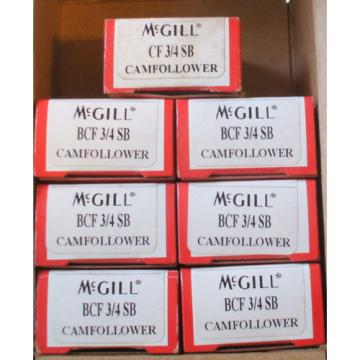 Lot 7 BEARING MCGILL BCF-3/4 CAM FOLLOWER Free Shipping