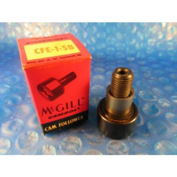 "McGill CFE 1 SB Stud Cam Follower, 1"" Roller Diameter, Hex Hole End"