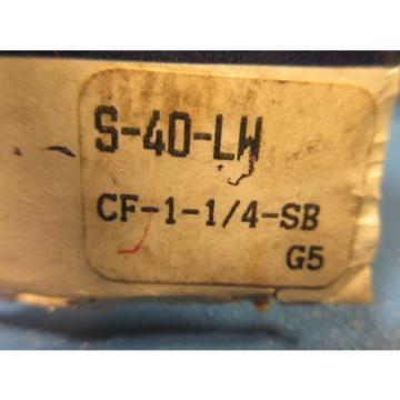 RBC S-40-LW Cam Follower; Standard Stud; Straight (Sealed) (McGill CF1 1/4 SB)