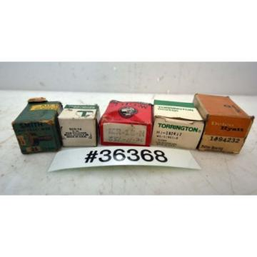 Lot of Five Assorted Cam Followers and Bearings (Inv.36368)