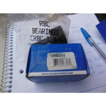 RBC Bearings CRBC 13/4 cam follower  quantity of 4
