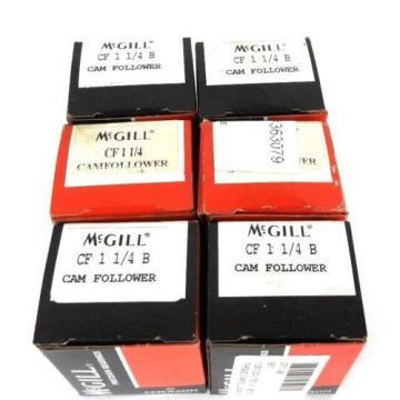 LOT OF 6 NIB MCGILL CF-1-1/4-B CAM FOLLOWERS CF114B