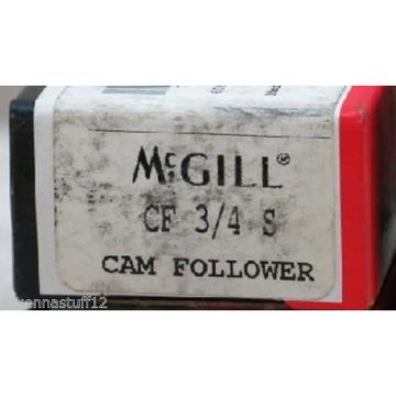 MCGILL CF 3/4 S CAM FOLLOWER BEARINGS (NEW IN BOX)