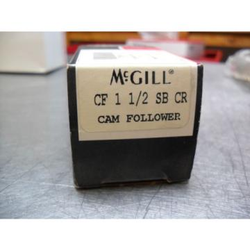 "McGill CF 1 1/2 SB CR Flat Cam Follower Stainless Steel  1-1/2"": Roller Dia."