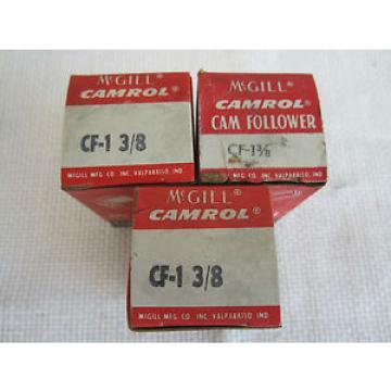 MCGILL CF-1 3/8 CAM FOLLOWER (LOT OF 3)