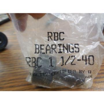 NEW RBC BEARINGS CAM FOLLOWER BEARING RBC1 1/2-40