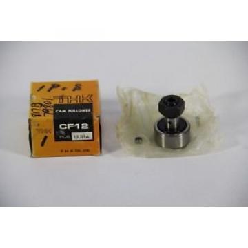 THK CF12UURA Cam Follower Bearing, 30mm Diameter, 14mm Width, 12mm Stud