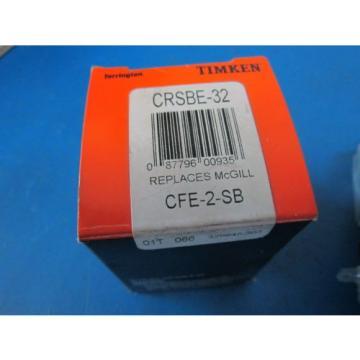 """Timken Bearings CRSB-32 2"""" Cam Follower Roller Bearing NIB CF-2-SB"""