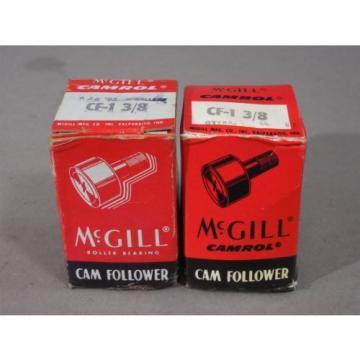 LOT of 2 McGill Camrol Cam Follower CF-1 3/8