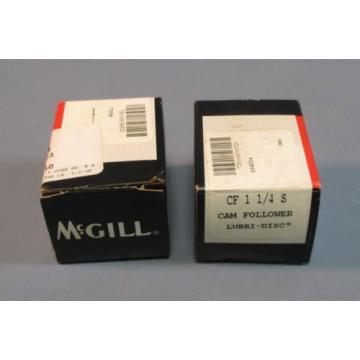 """Lot of 2 McGill SF 1 1/4 S Cam Follower Lubri-Disc 1/2"""" Stud NIB"""
