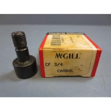 "1 Nib McGill CF-3/4 Cam Follower Bearing RD .7500"" RW .5000"" Stud Dia .3750"" New"