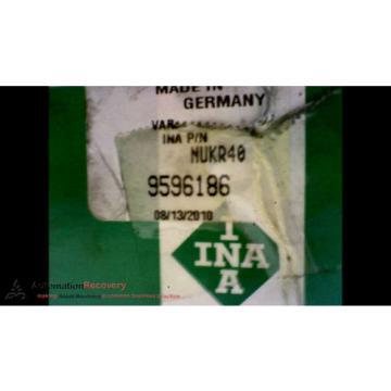 INA NUKR40-A- CAM FOLLOWER INSIDE DIAMETER: 18MM OUTSIDE DIAMETER, NEW #171513
