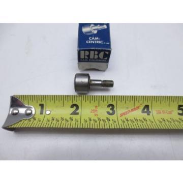 """RBC S-24 Cam Follower 5/8"""" OD Roller Diameter, 1/4""""-28 Size Threads"""