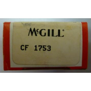 McGill CF 1753 MM1W0 10-5075-96 Cam Follower Precision Bearing NEW