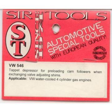 VW 546 Tappet Depressor for preloading Cam followers when exchange valve shims