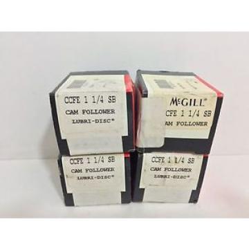 (4) NEW! MCGILL CAM FOLLOWERS CCFE-1-1/4-SB CCFE114SB