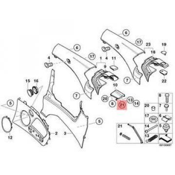 Genuine BMW E46 Trim Panel Rear Cam Follower Left Repair Kit OEM 51437147719