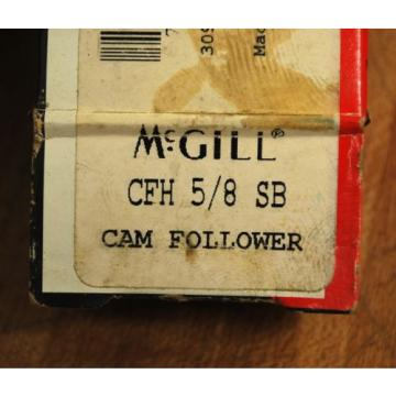 McGill CFH 5/8 SB Heavy Duty Cam Follower CFH5/8SB - NEW