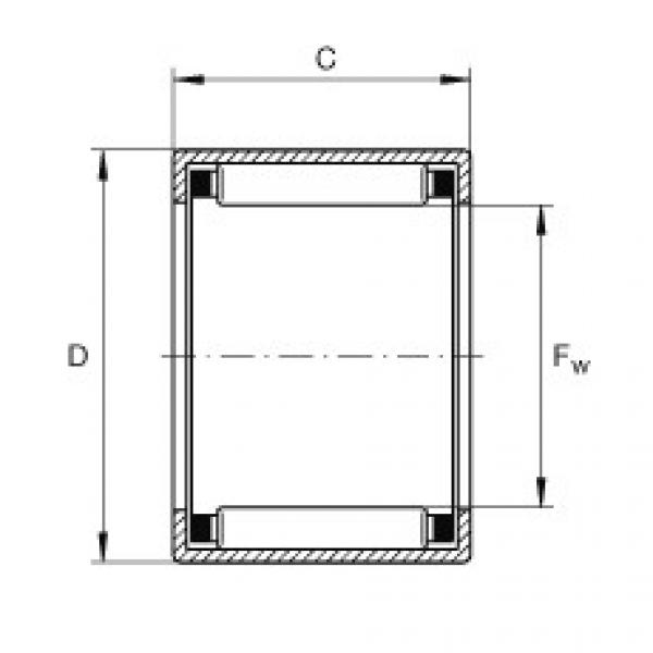 Drawn cup needle roller bearings with open ends - SCH1812 #1 image