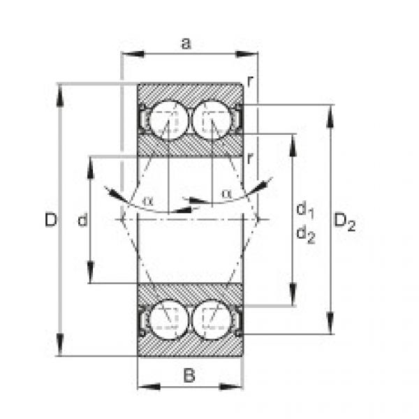 Angular contact ball bearings - 3802-B-2RS-TVH #1 image