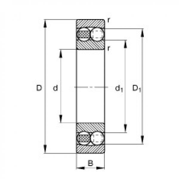 Self-aligning ball bearings - 1304-TVH #1 image