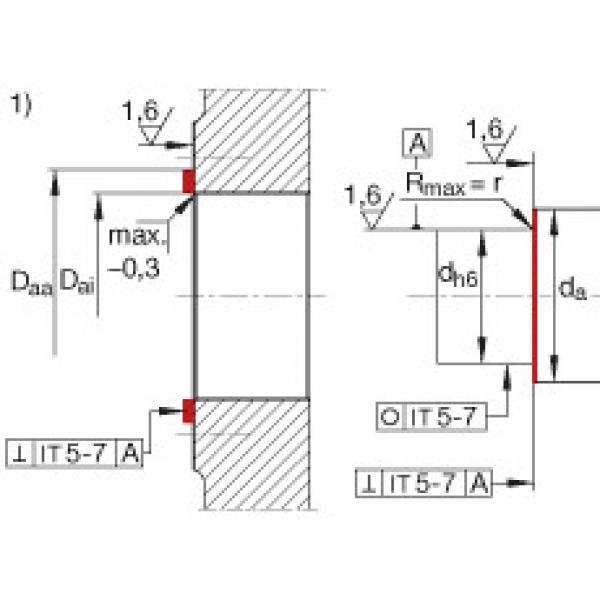 Angular contact ball bearing units - ZKLR1244-2RS #3 image