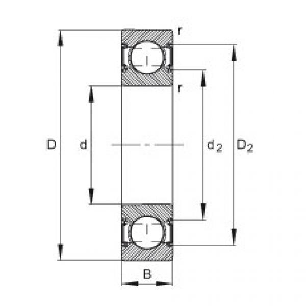 Deep groove ball bearings - 6205-C-2HRS